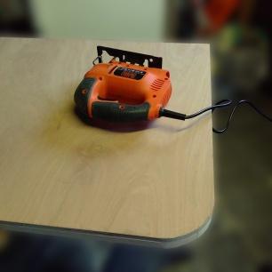 jigsaw lying on a table top