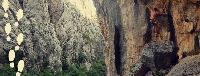 man climbing